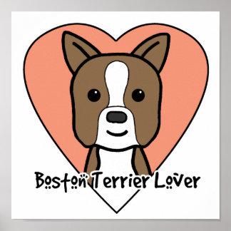 Boston Terrier Lover Poster
