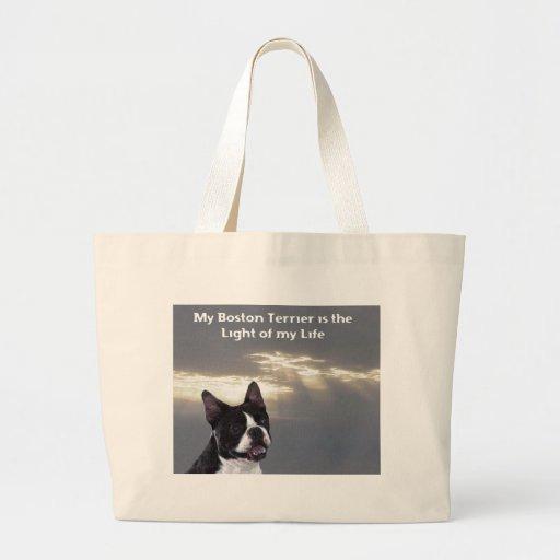 Boston Terrier:  Luz de mi vida Bolsa Tela Grande