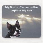Boston Terrier:  Luz de mi vida Alfombrilla De Ratón