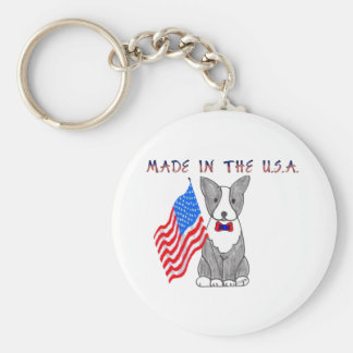Boston Terrier Made In The USA Keychain