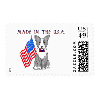 Boston Terrier Made In The USA Stamp