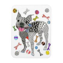"""Boston Terrier Magnet 3""""x4"""""""