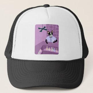 Boston Terrier Martini Bar Trucker Hat