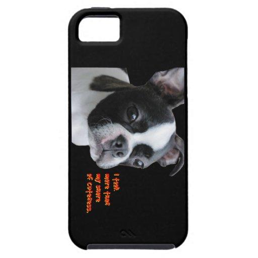 Boston Terrier:  Más que mi parte del cuteness iPhone 5 Funda