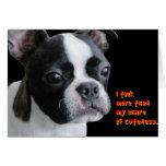 Boston Terrier:  Más que mi parte del cuteness Felicitación