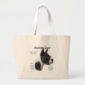 Boston Terrier Meet the Breed Large Tote Bag