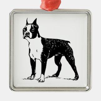 Boston Terrier Metal Ornament
