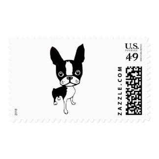 Boston Terrier Mirabelle postage stamps