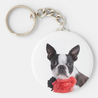 Boston Terrier Mollie mouse child Keychain