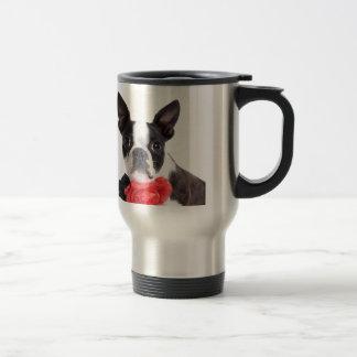 Boston Terrier Mollie niño de ratón Taza De Viaje De Acero Inoxidable
