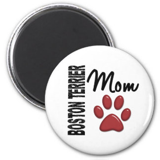 Boston Terrier Mom 2 2 Inch Round Magnet