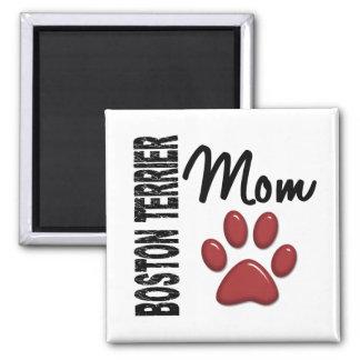 Boston Terrier Mom 2 2 Inch Square Magnet
