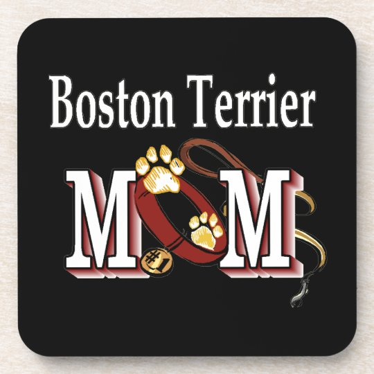 Boston Terrier Mom Beverage Coaster