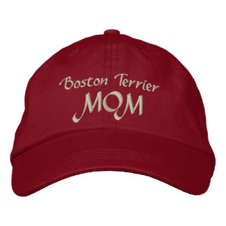 Boston Terrier  MOM Gifts Embroidered Baseball Hat