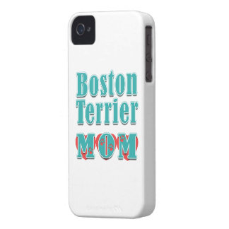 Boston Terrier Mom Hearts iPhone 4 Cover