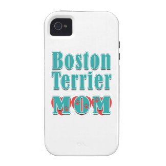 Boston Terrier Mom Hearts iPhone 4/4S Cases