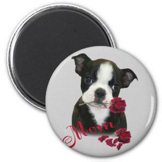 Boston Terrier Mom Refrigerator Magnet