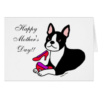Boston Terrier Mom (Mother's Day Gifts) Card