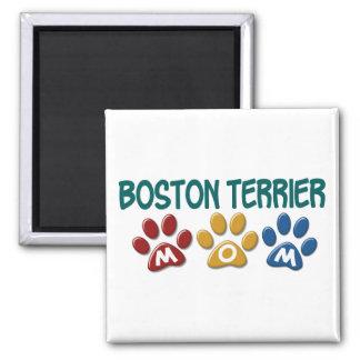 BOSTON TERRIER MOM Paw Print 1 Magnets