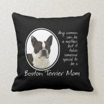 Boston Terrier Mom Pillow