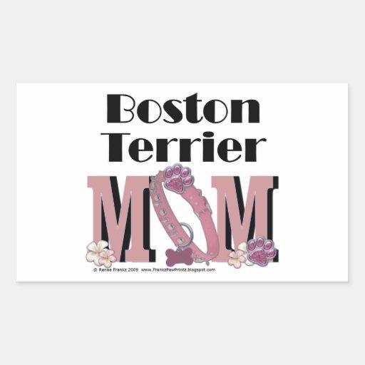 Boston Terrier MOM Stickers