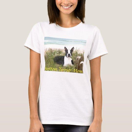 Boston Terrier Mom T-Shirt Beachgrass