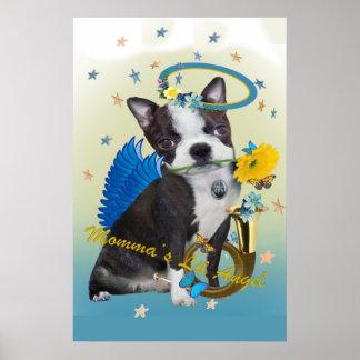 Boston Terrier Momma's Lil Angel poster