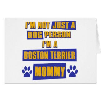 Boston Terrier Mommy Card