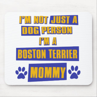 Boston Terrier Mommy Mouse Pad
