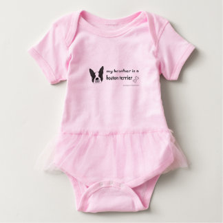 boston terrier-more breeds baby bodysuit