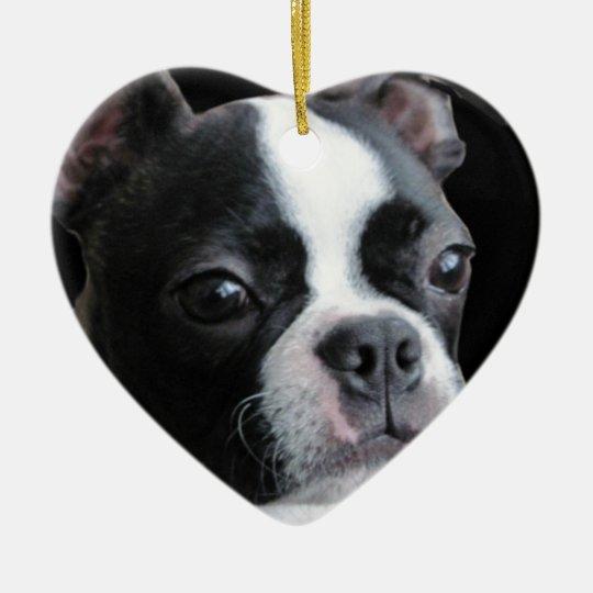 Boston Terrier:  More than my share of cuteness Ceramic Ornament