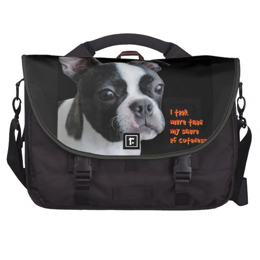 Boston Terrier: More than my share of cuteness Laptop Commuter Bag