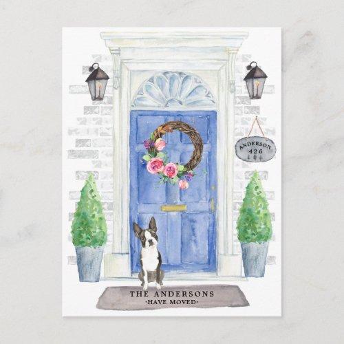 Boston Terrier Moving Announcement Postcard