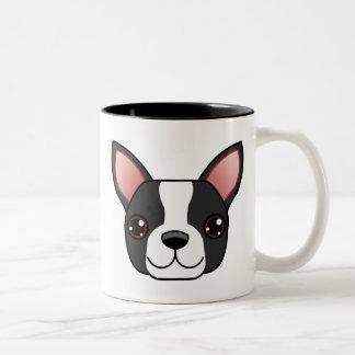 Boston Terrier Two-Tone Coffee Mug