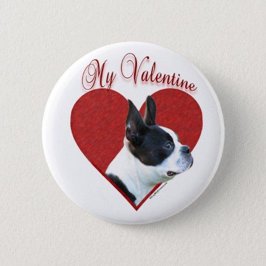 Boston Terrier My Valentine - Button