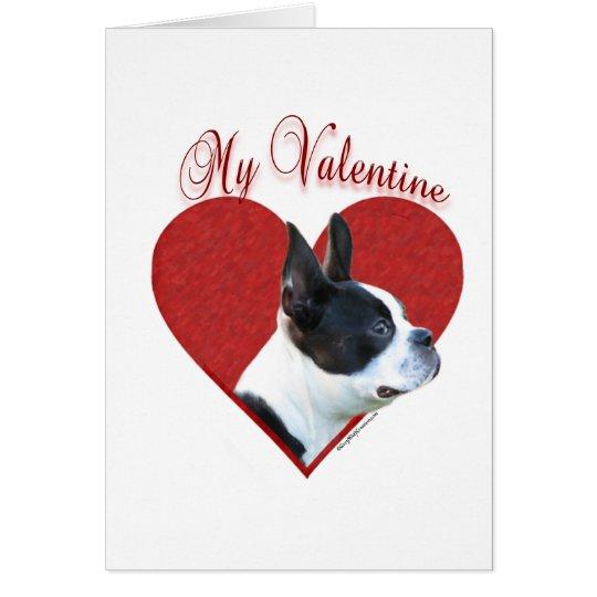 Boston Terrier My Valentine Card
