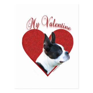 Boston Terrier My Valentine Postcard