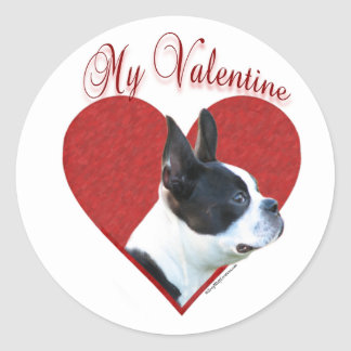 Boston Terrier My Valentine - Sticker