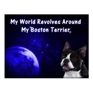Boston Terrier:  My World Postcard