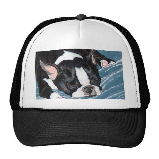 Boston Terrier Nap Trucker Hat
