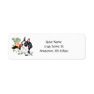 Boston Terrier Naughty Pup Labels