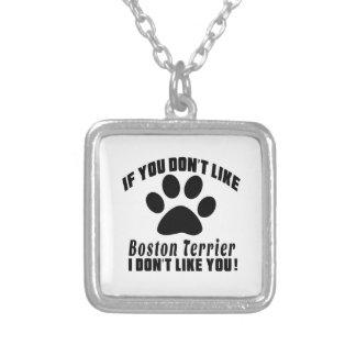 Boston Terrier no tiene gusto de diseños Colgante Cuadrado