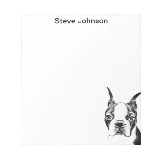 Boston Terrier Notepad