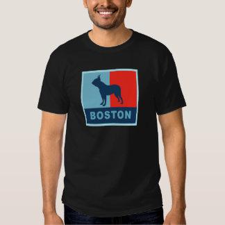 Boston Terrier Obama Style T-shirt