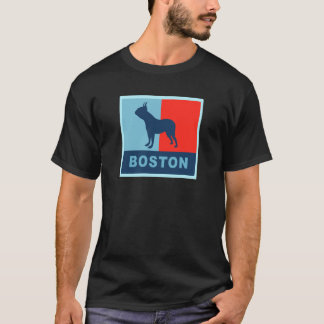 Boston Terrier Obama Style T-shirt