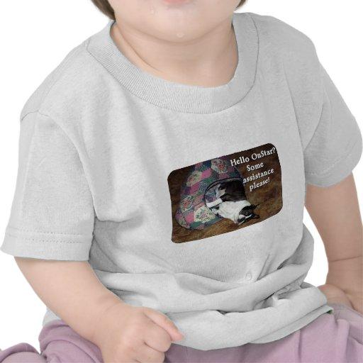 Boston Terrier:  ¿OnStar? Camiseta
