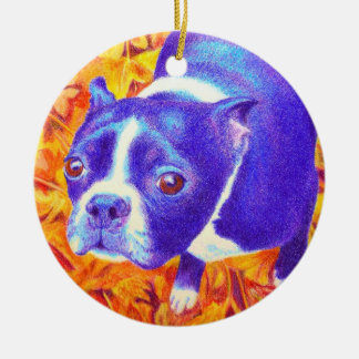 "Boston Terrier Ornament - ""Daisy"""