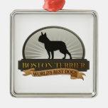 Boston Terrier Ornaments Para Arbol De Navidad