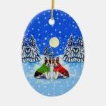 Boston Terrier Oval Ornament