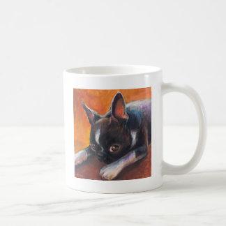 Boston Terrier painting dog Svetlana Novikova Coffee Mug